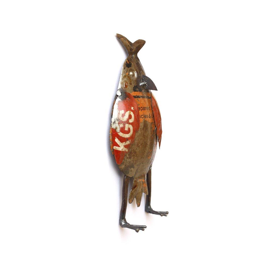 Multicolour De Kulture Works De Kulture Recycled Iron Figure Mini Owl Wall Mount Showpiece 6x3 LW Inches
