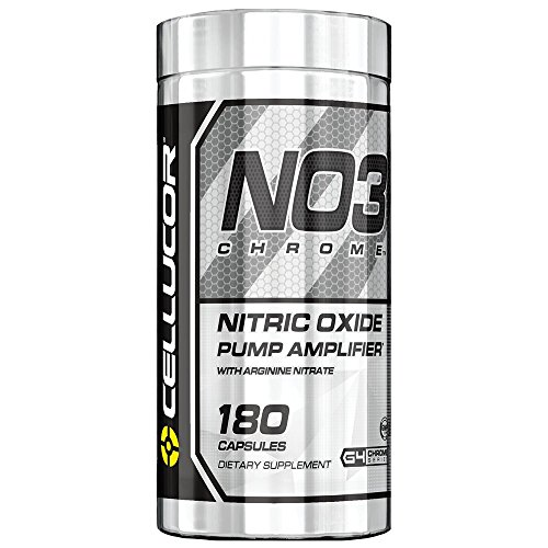 Cellucor NO3 Chrome Nitric Oxide Pump Amplifier, Pre Workout Pills, 180 Capsules
