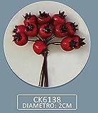 """Confezione 72 pezzi-fiori artificiali, Bomboniera """"fruttino MELOGRANO"""", x segnaposto, composizione confetti. (CK6138)"""