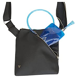 The Conway - Classic Black: Perfect Handbag/Hydration Purse Pack for Travel, Music Festivals and Water Bottle for Everyday!