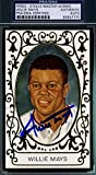 WILLIE MAYS PSA/DNA COA PEREZ STEELE MASTER WORKS 11 AUTHENTIC HAND SIGNED AUTOGRAPH