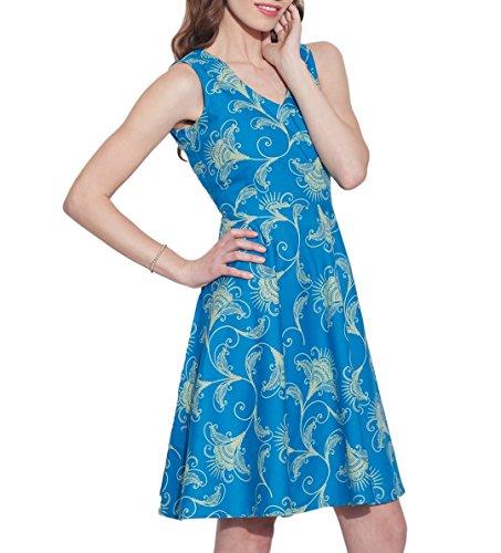 Femmes Apparels Robe en coton imprimé, lavable en machine, W-CPD40-1618, Taille-40 pouces