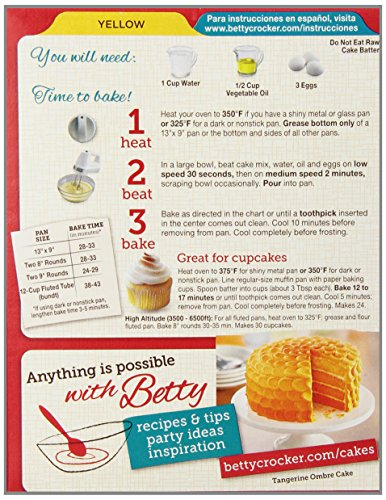 Ingredients In Betty Crocker Gluten Free Yellow Cake Mix