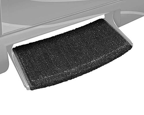 - Prest-O-Fit 2-0205 Wraparound Radius RV Step Rug Black 22 In. Wide