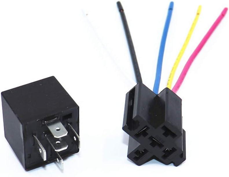 BIlinli Rel/è per Auto con Presa GPS Tracker Antifurto Auto DC12V 24V Volt Opzionale Multifunzione Attrezzatura per Auto elettriche Accessori per Prodotti