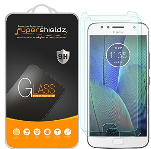 2 Pack  Supershieldz For Motorola  Moto G5s Plus  Tempered Glass Screen Protector  Anti Scratch  Anti Fingerprint  Bubble Free  Lifetime Replacement Warranty