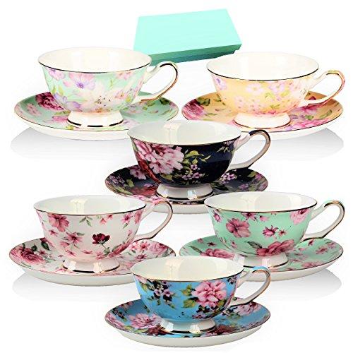 Rose Cup Saucer Set - 4