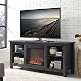 "Walker Edison 58"" Fireplace TV Stand in Charcoal"