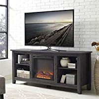 Fireplace TV Stand in Black