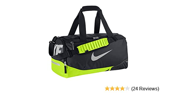 reputable site 9da98 9a2a0 Amazon.com   Nike New Vapor Max Air Small Duffel Bag Black Volt Metallic  Silver   Sports Duffels