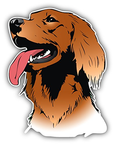 Irish Setter Dog Head Art Decor Bumper Sticker 4'' x 5''