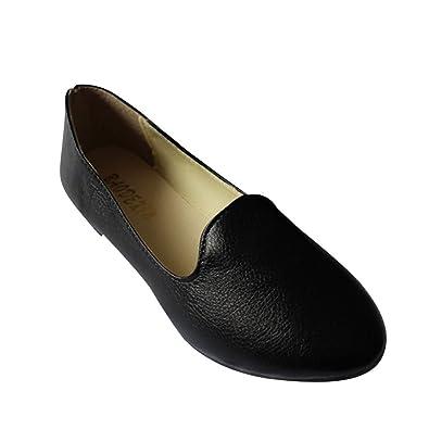 39ebb58bfd0a8 MISSMAO Womens Flat Pumps Ladies Stunning Ballet Ballerina Dolly Bridal  Shoes,Black,EU 35