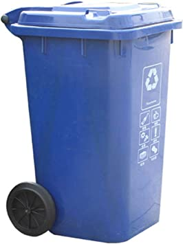 Mülltonnebehälter rund aus Kunststoff 120 Liter mit