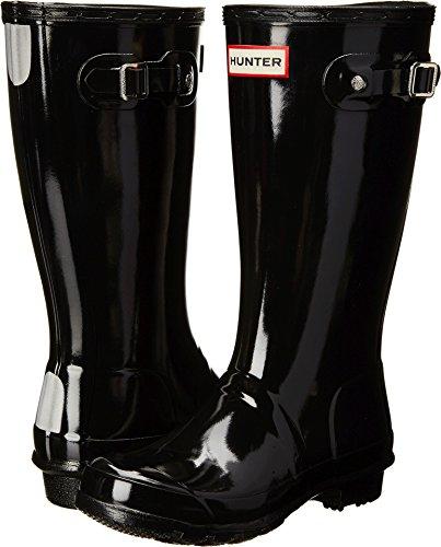 Hunter Kids Original Gloss Black Rain Boot - 5 (Kids Original Gloss Rain Boots)