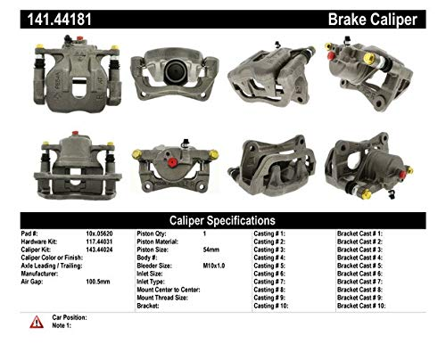 Centric Parts 141.44181 Semi Loaded Friction Caliper