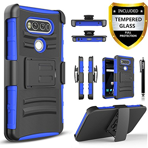 LG V20 Case, Dual Layers Hybird Shockproof And Circlemalls Stylus Pen