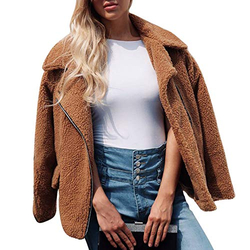 Beaded Wool Coat - Clearence Sale! Hurrybuy Womens Coat Artificial Wool Coat Zipper Jacket Winter Parka Outerwear WarmHooded Blouse