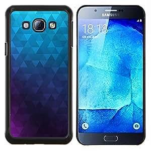GIFT CHOICE / Teléfono Estuche protector Duro Cáscara Funda Cubierta Caso / Hard Case for Samsung Galaxy A8 A8000 // Polygon Purple Blue Wallpaper Abstract //