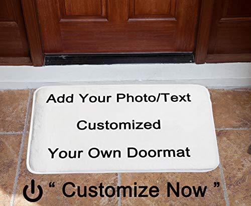 Renporits Customized Your Own Photo or Text Design Doormat Door Mat Entrance Mat Floor Mat Rug Front Door/Indoor/Outdoor/Bathroom/Kitchen Mats Non Slip Backing Machine Washable Carpet 30x18 Inches.