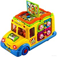 higadget Musical Toys for Kids, Educational Learning Toys (Musical School Bus)