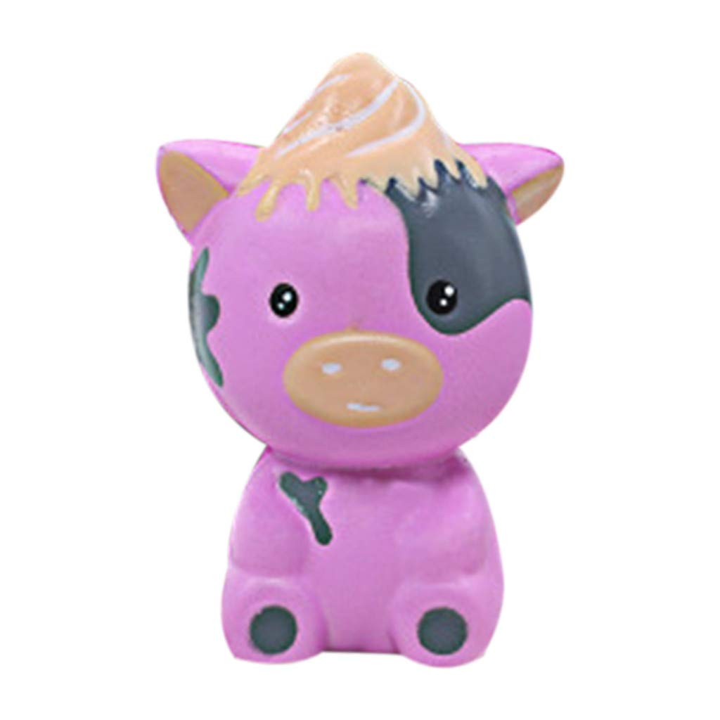 Stress Reliever Simulated Cute Bear Scented Super Slow Rising Kids Squeezable Favors for Kids Toy (Purple)