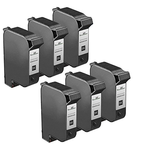 Speedy Inks - 6PK Remanufactured replacement for HP 45 51645A Inkjet Cartridge for use in HP DeskJet 1000cxi, 1100, 1100C, 820,820C, 820Cse, 820Cxi, 850, 850C, 855, 855C, 855Cse, 855Cxi, 870, ()