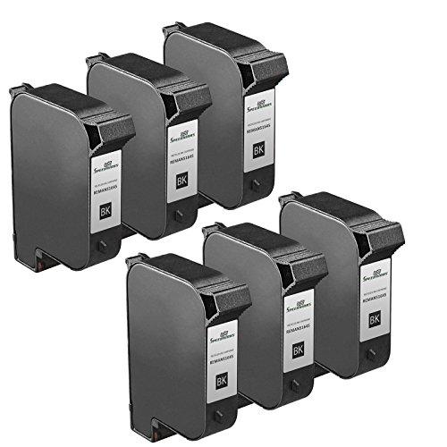 Speedy Inks - 6PK Remanufactured replacement for HP 45 51645A Inkjet Cartridge for use in HP DeskJet 1000cxi, 1100, 1100C, 820,820C, 820Cse, 820Cxi, 850, 850C, 855, 855C, 855Cse, 855Cxi, 870, 870C