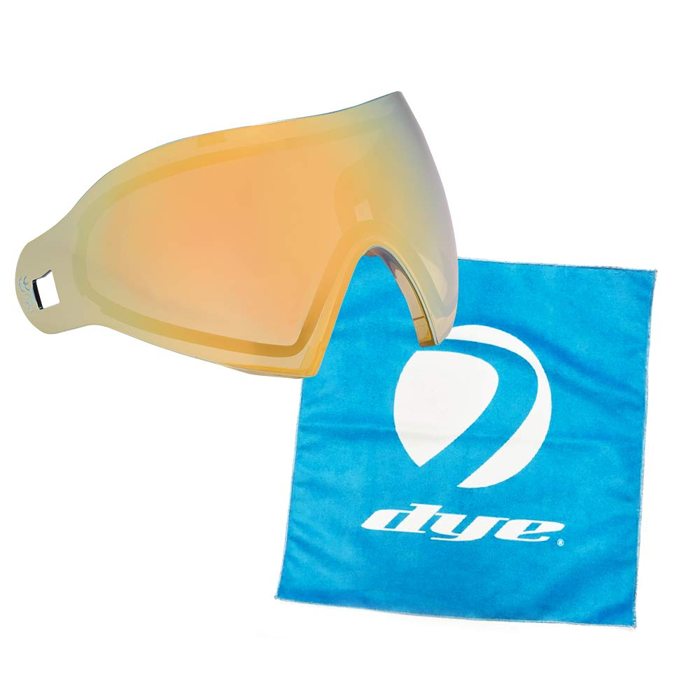 Dye Paintball i4/i5 Goggle Thermal Replacement Lens (Dyetanium Faded Bronze Sunrise + Lens Cloth) by Dye