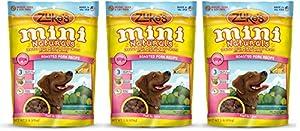 Zukes Mini Naturals xUQQX Healthy Moist Training Treats, Pork, 1 Pound (3 Pack)
