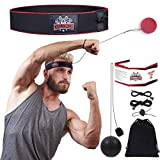 TIU Challenger Boxing Reflex Ball, 2 Difficulty Level Boxing Ball with Headband, Great for Punching Speed, Reaction, Agility, Fight Skill and Hand Eye Coordination Training