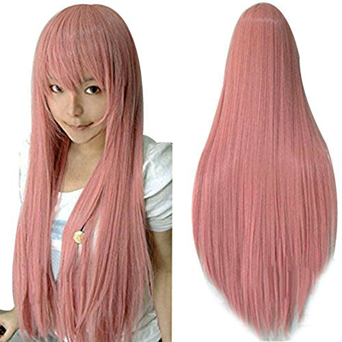 Anogol Hair Cap +Vocaloid 80cm Long Straight Hair
