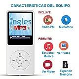 Curso de INGLES MP3, Aprende ingles en 3 Meses, CURSO DE INGLES (Incluye reproductor mp3 compacto con 100 Lecciones + Libro Guía)