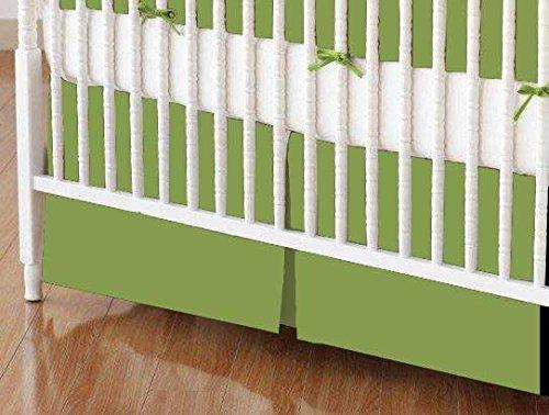 SheetWorld - Crib Skirt (28 x 52) - Sage Woven - Made In USA by SHEETWORLD.COM