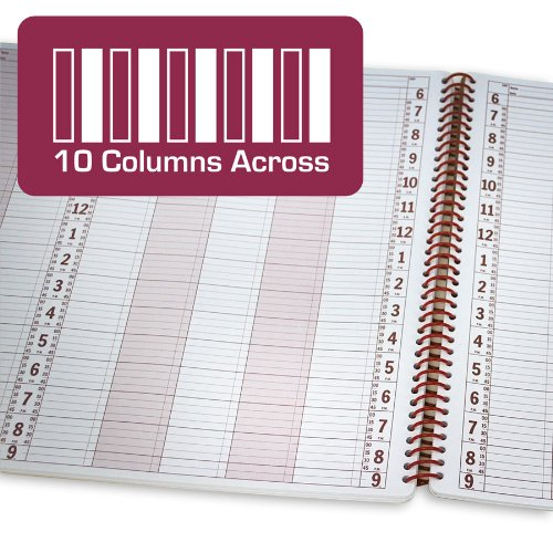 Salon Appointment Book (10 columns, opens to 20 columns / 100 sheets, 200 pages)