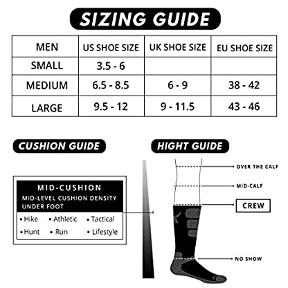 5 Pairs Mens Socks For Hiking Trekking Walking,Breathable Cushion Comfortable Casual Crew Socks 6