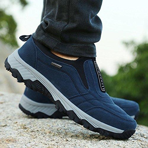 Trekking Scarpe Fondo Sportive Sneakers Arrampicata Da Di Antiscivolo Uomo Escursionismo Wealsex Blu All'aperto xUw5IqYRW
