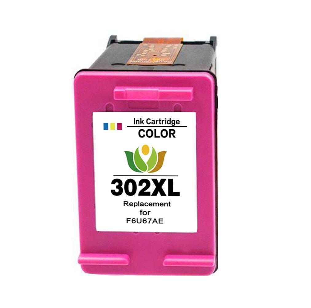 Remanufacturado HP 302 XL Cartuchos de tinta (1 Negro, 1 tricolor) Compatiable con HP DeskJet 1110 1115 2130 2132 3630 3632 3633 3635 HP OfficeJet ...