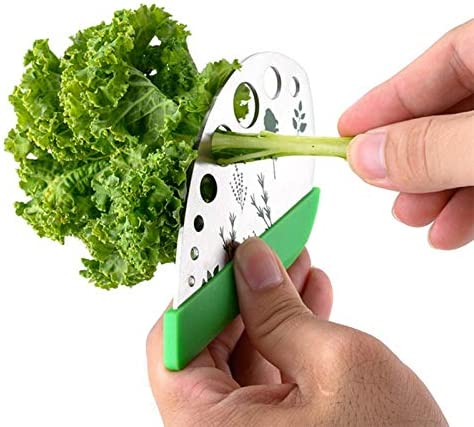 Msleep Herb Stripper 9 Stainless Steel Kitchen Herb Leaf Stripping Tool for Kale Chard Collard Greens Thyme Basil Rosemary
