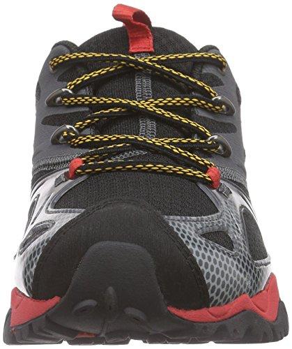 Merrell Grassbow Rider - Zapatos de Low Rise Senderismo Hombre Black (Black/Red)