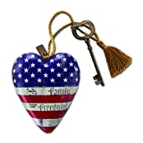 Demdaco 1003480008 Faith, Family, Freedom Art Heart Sculpture