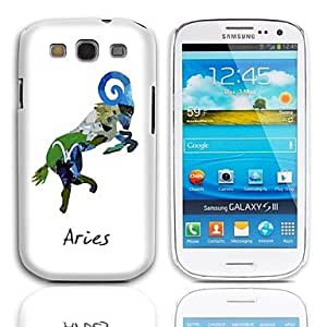 The Aries Zodiac Design Hard Case with 3-Pack Screen Protectors for Samsung Galaxy S3 I9300