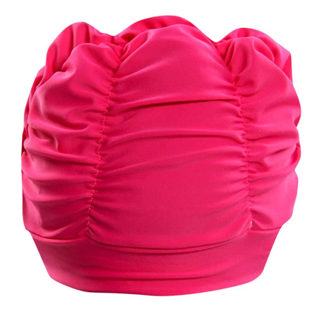 Swimming Hat Women Unisex Girls Long Hair Bathing Cap Swimming Stretch Cap