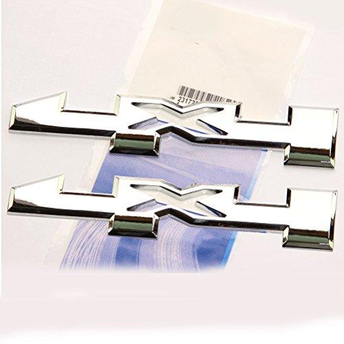 Yoaoo 2x OEM 4 x 4 Door Emblem Badge 4x4 Nameplate 3D Gm Silverado Sierra 1500 2500Hd 3500Hd Chrome ()