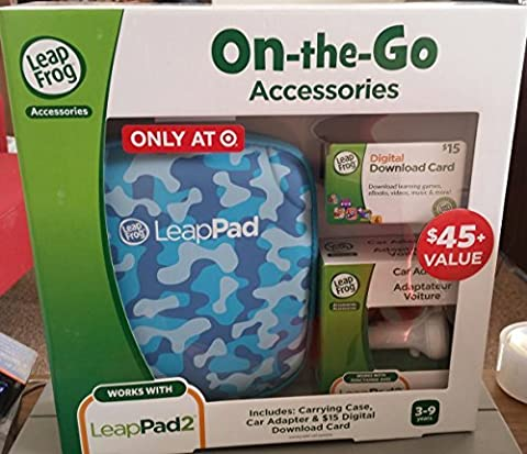 Leapfrog Leappad Accessories On-the-go Bundle. Blue Carrying Case, Car Adapter & $15 Digital Download - Leapfrog Car Adapter