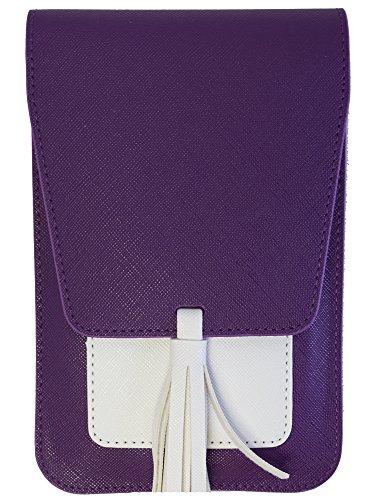Harper Crossbody - Purple/White