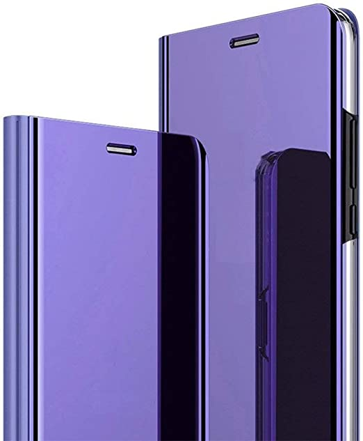 Yichxu Samsung M30S Hülle, Spiegel Clear View Standing