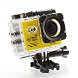2015 New SJ7000 WiFi Action Camera 2¡± LTPS LED 1080P FHD Sport DV Mini Cam(Yellow)