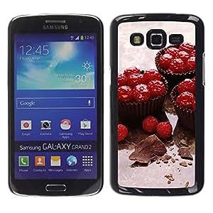 Smartphone Rígido Protección única Imagen Carcasa Funda Tapa Skin Case Para Samsung Galaxy Grand 2 SM-G7102 SM-G7105 Fruit Cupcakes / STRONG