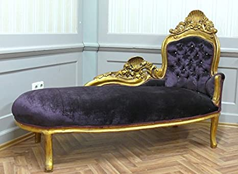 LouisXV Barroco Chaise sofá-Cama de Estilo Antiguo ...