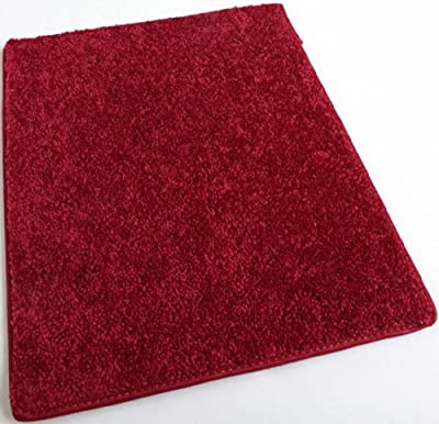 Real Red 30 oz Durable Cut Pile Area Rug. Multiple sizes and shapes to choose from.